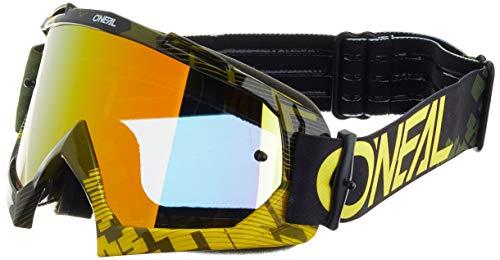 O'NEAL | Fahrrad- & Motocross-Brille | MX MTB DH Downhill Freeride | Hochwertige 1,2 mm-3D-Linse für ultimative Klarheit, UV-Schutz | B-10 Goggle | Erwachsene Unisex | Neon-Gelb Grün | One Size