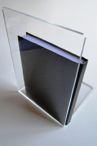 LE-ONs® Buchstützen aus Acryl, klar, 16 x 15 x 21 cm, VE=2 Stück