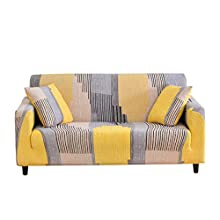 WINS Fundas de sofá Ajustables elástica 2 plazas Fundas Sofa Funda Sillon Cubre Sofas Protector de sofá elástico Modernas Universal