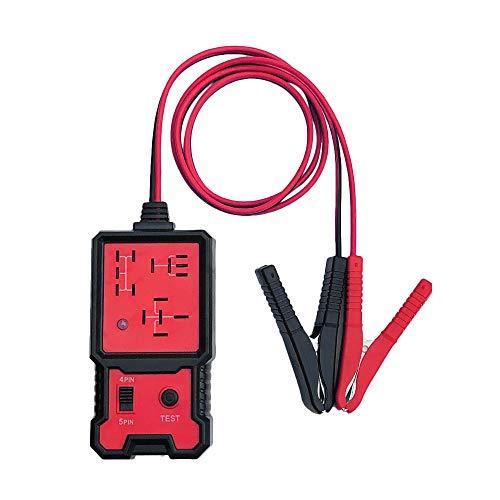 KKmoon Comprobador de Batería de Coche 12V Electrónico Probador Relé con Clips Herramienta de Diagnóstico de Relé Automático
