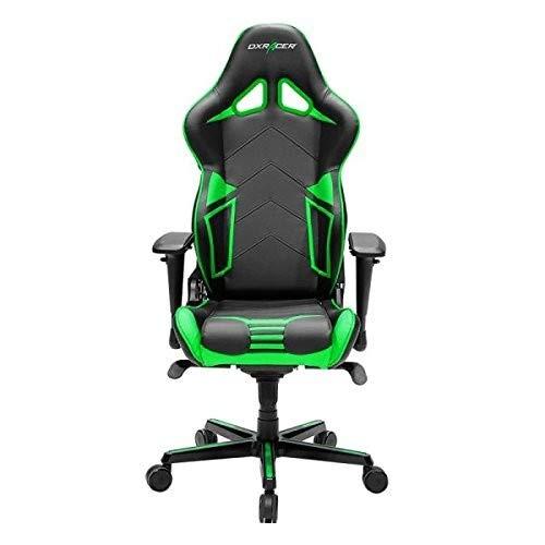DXRacer OH-RV131-NE bureaustoel, kunstleer, zwart-groen, h 132 cm, b: ca. 67 cm.