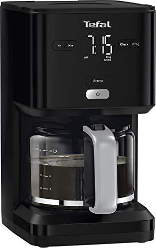 Tefal Smart N Light CM6008 Cafetera Filtro capacidad de 1.25 l, cabezal de extracción extragrande, programable 24 h, función aroma, apagado automático en 30 minutos, antigoteo