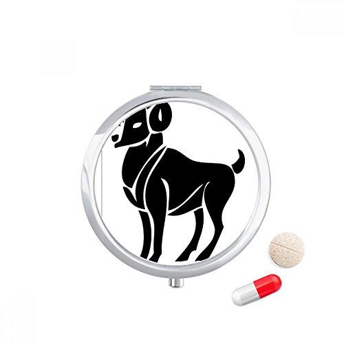 DIYthinker Constellation Ram Zodiac Symbool Reizen Pocket Pill case Medicine Drug Storage Box Dispenser Spiegel Gift