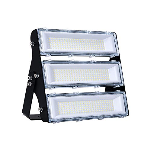 150W LED Flood Light Outdoor , 14500lm 6000K Super Bright Yard Security Lights IP66 Waterproof Outdoor Work Lights,OSRAM LED Chips, Adjustable Heads, Great for Garden,Yard, Parking Lot(Updated)