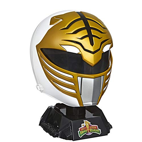 Power Rangers Lightning Collection Mighty Morphin White Ranger Casco Premium de Colección, Tamaño real
