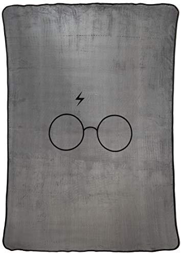 Jay Franco Harry Potter Always Plush Blanket, Gray