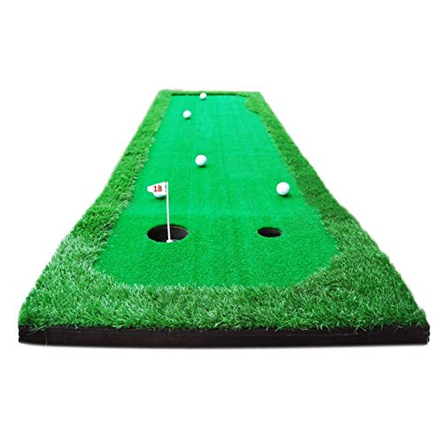 Learn More About lqgpsx Golf Putting Practice Mat, Portable Driving, Chipping, Training Aids, Equipment for Residential Backyard Indoor Practice Turf (2.5ftx10ft)
