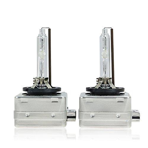Sipobuy D1S D1R D1C 35W Diamant Blanc 6000K Hid Ampoule Lampe Xénon Phare Pour Voiture 12V, (Pack of 2)