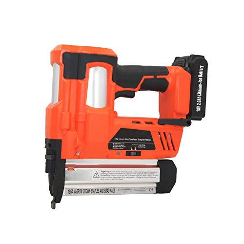 Batería de litio recargable inalámbrica eléctrica pistola de clavos, herramienta de carpintería...
