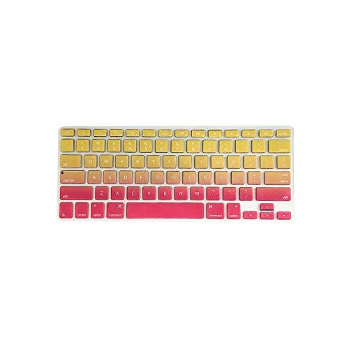 Colorida cubierta de teclado de TPU a prueba de polvo para MacBook Air de 13,3 pulgadas A1466/A1369-rojo y amarillo