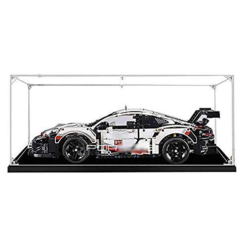 JW-YZWJ Caja de exhibición de acrílico, Caja de visualización de protección a Prueba de Polvo 911 RSR, Compatible con Lego 42096 (Modelo de Juguete no Incluido)