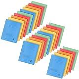 com-four® 25x Kartonschnellhefter DIN A4 - Schnellhefter in bunten Farben