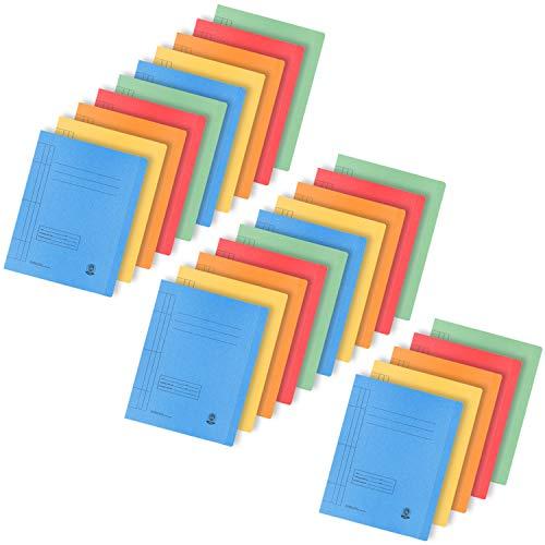 com-four® 25x Kartonschnellhefter DIN A4 - Schnellhefter in bunten Farben - Papphefter für Schule, Büro und zu Hause (25 Stück - Kartonschnellhefter bunt)