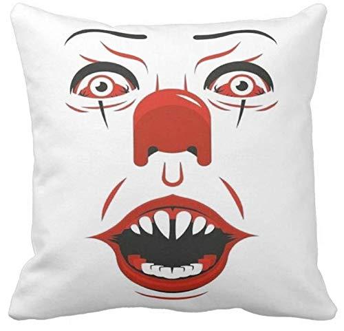 Pillow Pillow CUSCINO PERSONALIZZATO 40X40 MEME TRIBUTO IT LIBRO FILM HORROR STEPHEN KING PENNYWISE 1 FILM CULT 1 IDEA REGALO