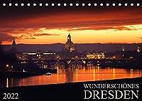 Wunderschoenes Dresden (Tischkalender 2022 DIN A5 quer): Kommen Sie mit, auf eine Reise und erleben Sie das wunderschoene Dresden jeden Monat neu. (Monatskalender, 14 Seiten )