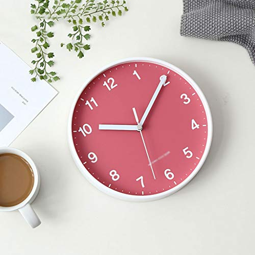 zxb-shop Reloj de Mesa Reloj de Pared de Barrido sin tictac Diámetro de 20 cm (números árabes) Reloj de Estante (Color : C)