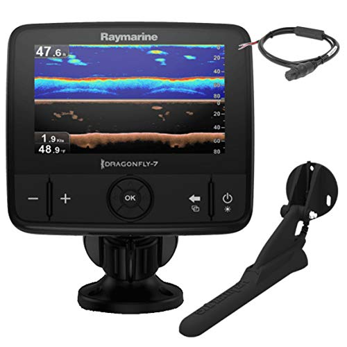 Raymarine E70320 Dragonfly-7 Pro Sonar/GPS - 17.8 cm / 7 Inches Built-in Down Vision, CPT-DVS without Card