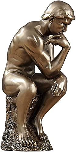 WQQLQX Statue Menschen Skulptur Statuen Harz Möbel Möbel Handwerk Zubehör Ornamente Bürostudie Wohnzimmer Schmuckanzeige Skulpturen