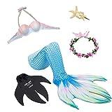 Meerjungfrau Badeanzüge Für Erwachsene, Meerjungfrau Schwanz Mit Monoflosse Und Crop Top, Geeignet Für Strand/Pool/Party,Clear,M