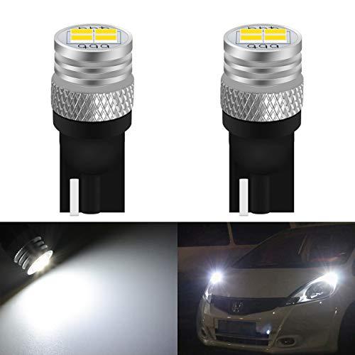 KATUR 2pcs 194 LED éclairage intérieur de Voiture Blanc T10 168 2825 W5W 4-SMD 3020 750LM Lumières de Rechange de Voiture Dégagement Cale Dôme Coffre Ampoule de Plaque d'immatriculation Lampe DC 12V