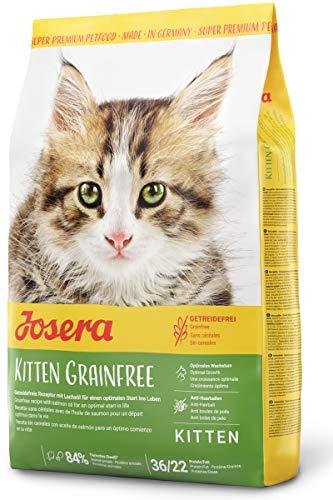 JOSERA Kitten grainfree (1 x 2 kg) | getreidefreies Katzenfutter mit Lachsöl | Super Premium Trockenfutter für wachsende Katzen | 1er Pack