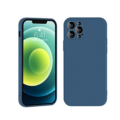 IPhone 12 Case, Liquid Silicone Gel Rubber Full Body Protection Shockproof Drop Protection Case, Liquid Silicone-Flannel Material, For IPhone 12/Pro/Max/Mini(Dark Night Green909, For iPhone 12Pro Max)