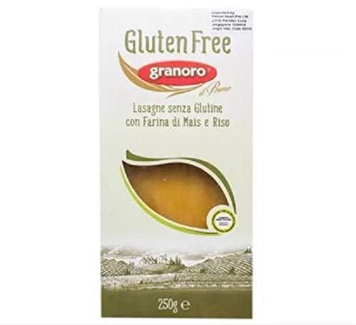 Granoro Pasta Lasagne Gluten Free 250g - Gluten Free GRANORO Lasagne Gluten with Corn Flour and Rice Pasta. Ingredients Corn Flour 55 - Percent, Rice Flour 45 - Percent