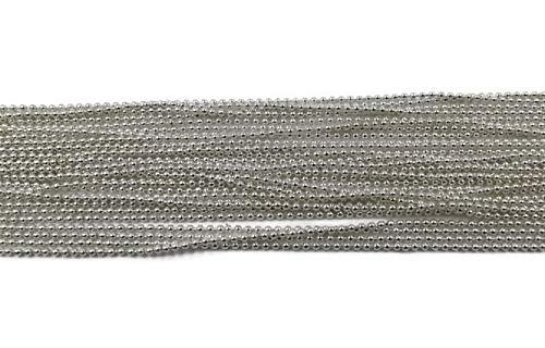 SiAura Material ® - 10m versilberte Kugelkette 1,5mm Schmuckkette