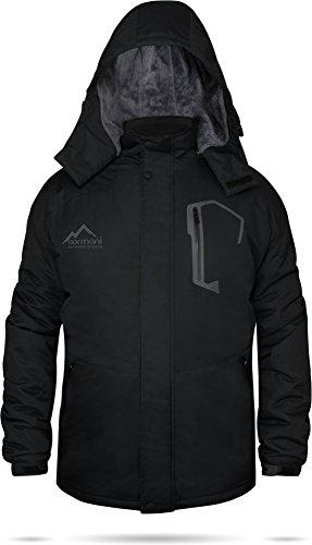 normani Winterjacke Softshelljacke Yukon-Edition Schwarz [S-3XL] Größe XXXL