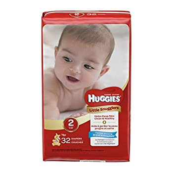 Huggies Little Snugglers Diapers Size 2 32 Count