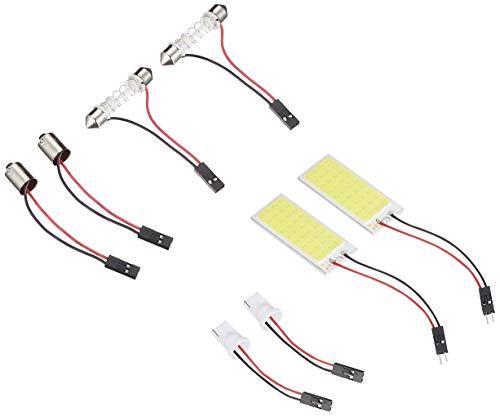 【e-auto fun】最新COB 36発LED (50x20mm) ルームランプ(面発光タイプ)2セット