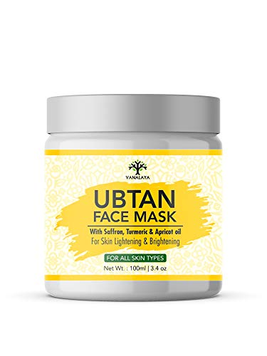 Vanalaya Ubtan face mask, Face pack for Fairness, Tanning & Glowing Skin with Saffron, Turmeric & Apricot Oil Detan mask 100 ml