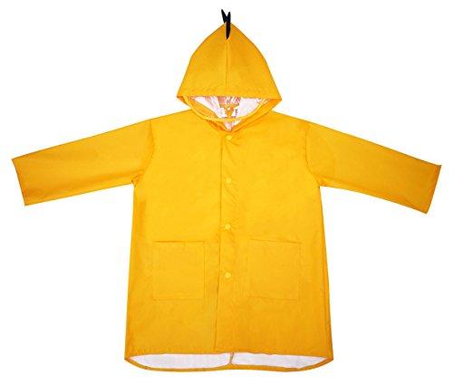 Chubasquero para niños amarillo impermeable