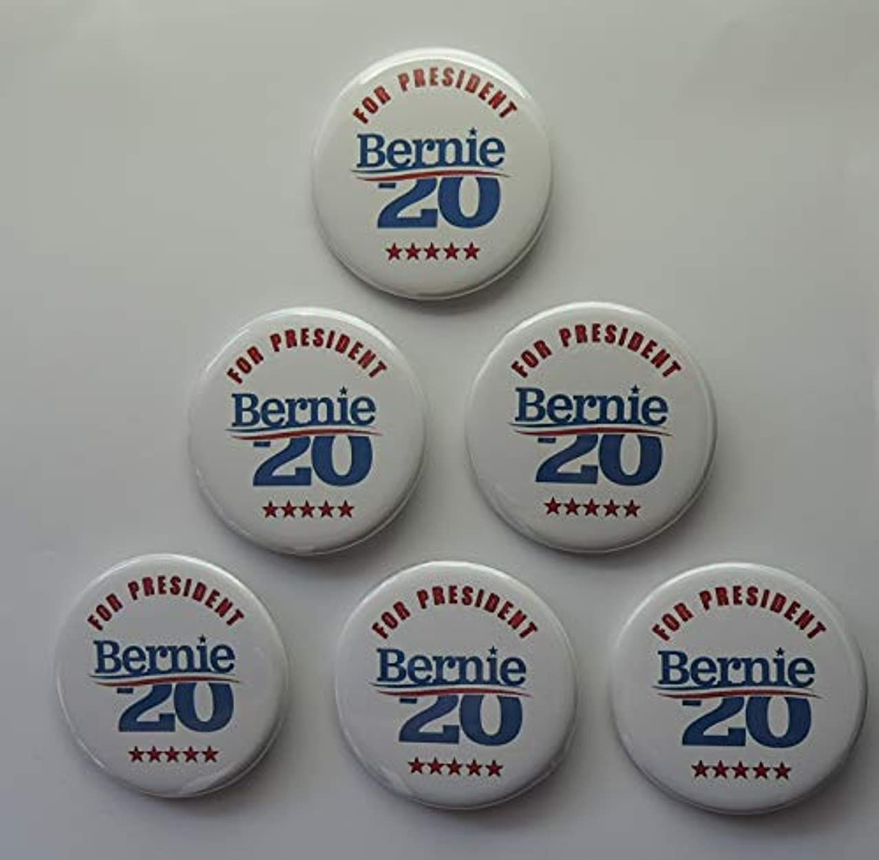 for President Bernie Sanders Campaign Buttons 6-Pack (2.25 inches)