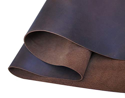 Dark Brown Leather Square 2.0mm Thick Finished Full Grain Cow Hide Leather Arts Crafts Tooling Sewing Hobby Workshop Crafting Leather Accessories- QYHQ