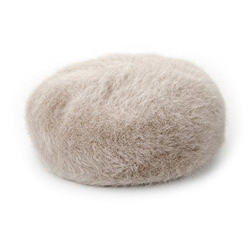 Insun Insun Damen Hut Baskenmütze Barett Winter Flauschig Beanie Damen Mütze Beige