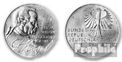 BRD (BR.Deutschland) Jägernr: 414 1974 D vorzüglich Silber 1974 5 DM Kant (Münzen für Sammler)