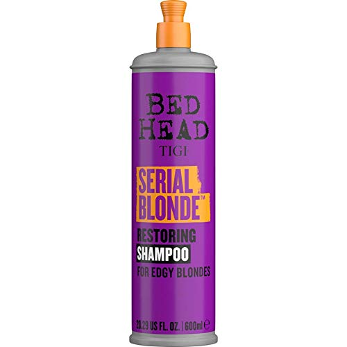 Bed Head by TIGI Serial Blonde Shampoo for Damaged Blonde Hair 600ml 1 ea (Pack of 3)