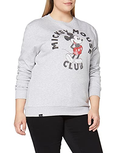 Disney Mickey Mouse Club Sudadera, Gris (Sport Grey), S para Mujer