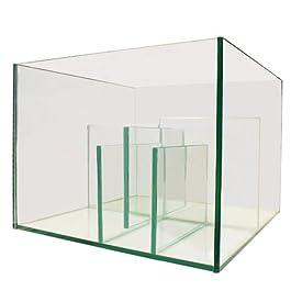 All Pond Solutions Aquarium Marine Reef Fish Tank Glass Sump with Refugium 40cm Nano & 80cm