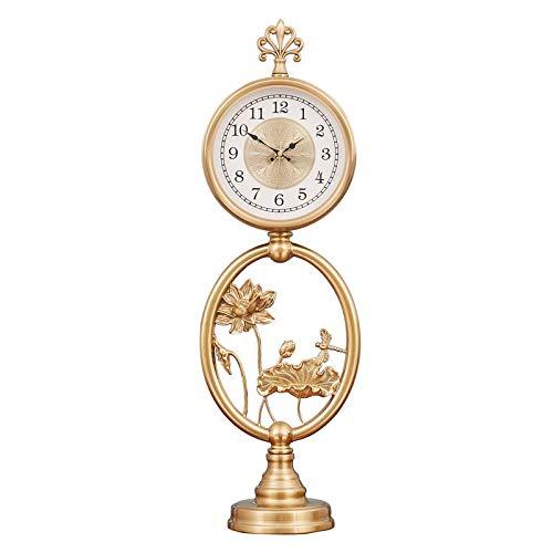 Newgreeny Reloj De Mesa Decoración De La Sala De Estar Reloj De Escritorio Artesanía Reloj De Pie Péndulo Relojes De Escritorio Esfera de Reloj Digital Lotus