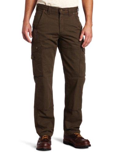 Carhartt, Pantaloni Da Lavoro Da Uomo In Cotone Antistrappo, Vestibilità Comoda, Tinta Unita, W28/L30, Dark Coffee, 1