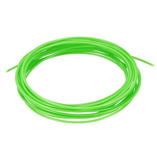 sourcing map 5 Metri/16 Piedi ABS 3D Penna/Stampante 3D Filamento 1,75 mm Verde fluorescente 5 metri / 16 Ft
