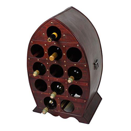 Weinregal Kolonialstil Vintage Holz Hausbar Weinschrank Wein Regale 12 Flaschen