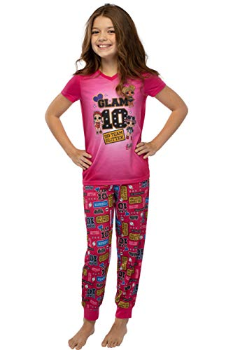 LOL Sorpresa! Las niñas Glam 10 Pantalones y Camisa emparejador Dormir 2 Pieza Pajama Set (L, 10/12)