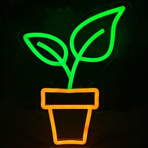 Jinson well Lámpara de flor, signo de neón, decoración de mesita de noche, signo de neón, boda, dormitorio, tabla, regalo, juguete, decoración, decoración para regalo
