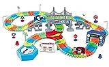 Ydq Pista Coches De Circuito Juguetes Pista Coches Flexible Ensamblaje De Bricolaje Educación Niños Rompecabezas Juguete De Aventura A Gran Escala para Niños 2-6 Años