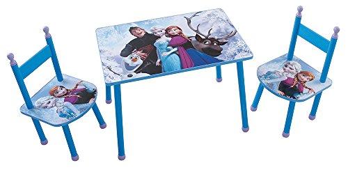 Fun House Disney Reine des NEIGES Ensemble Une Table avec 2 CHAISES pour Enfant, MDF, Bleu, 60x40x44 cm