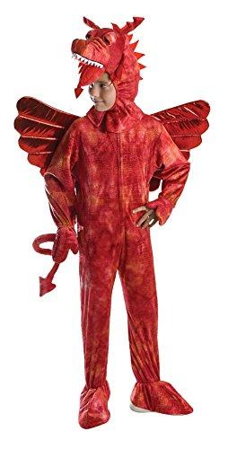 Bristol Novelty CC572 Costume de Dragon Rouge pour Enfant, Taille L, CC573, Red, 140 cm