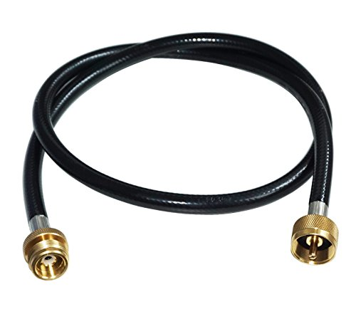 "DOZYANT 4 Feet Propane Distribution Tree Extension Hose Assembly 1"" x20 Female Throwaway Cylinder Thread x 1"" x20 Male Throwaway Cylinder Thread - T and Y Connector"